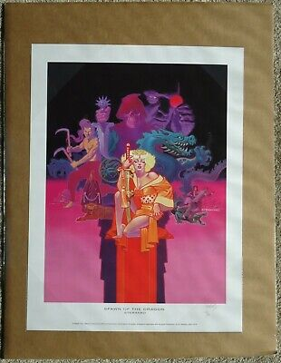 Spawn of the Dragon Print 2003 Steranko Signed 190 of 260 18X24 Card Backed Shri