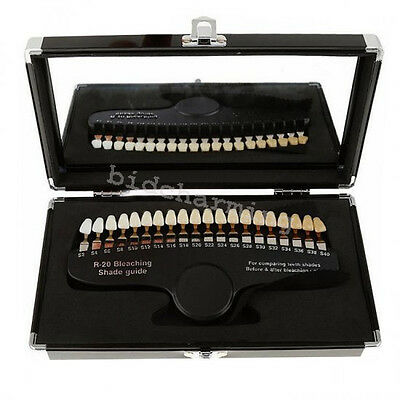 Professional Dental Teeth Whitening 20 Shade Guide For comparing teeth bleaching