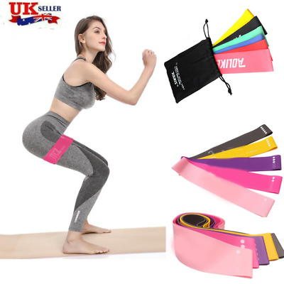 6 Sets Non Slip Latex Loop Band Exercise Hip Glute Heavy Duty Resistance Booty B