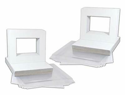 White Picture Mats Mattes with White Core Bevel Cut for 5x7 Photo Backing Bags