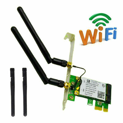 2.4/5Ghz Dual Band 300/450Mbps High Speed Desktop PC PCI-E WiFi Network Card