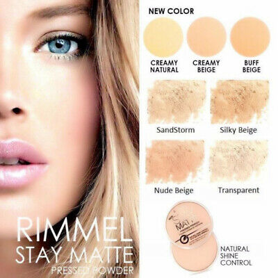 RIMMEL London Stay Matte Long Lasting Shine Pressed Compact  4 SHADES