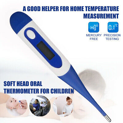 Electronic Digital LCD Thermometer Medical Baby Adult Body Safe Soft US Stock