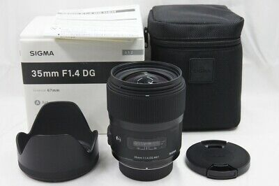 """MINT"" SIGMA Art 35mm F1.4 DG HSM AF Lens for Nikon F Mount w/ Box #200224a"