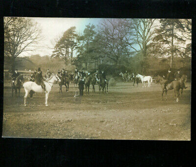 New Forest Fox Hunt Bartley RP Postcard 1911