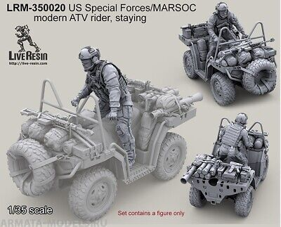 Live Resin 1//35 LRM-35019 US Special Forces//MARSOC ATV Rider Standing Bearded