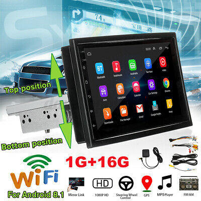 7'' 1DIN Touch Android 8.1 Bluetooth Car Radio Stereo WIFI GPS MP5 Player+Camera