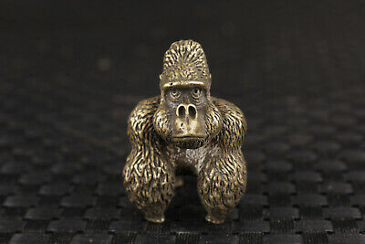 Chinese old bronze hand carved monkey king statue figure netsuke