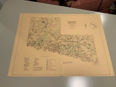 1974 Gogebic County EAST Part Michigan DNR Highway & Recreation Information Map