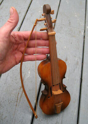 Hand Carved Vintage / Antique Folk Art Violin / Fiddle / Musical Instrument Band