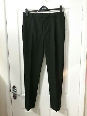 Marks and Spencer Boys Black  Slim Leg Trousers  Age 14/15 Years BNWT