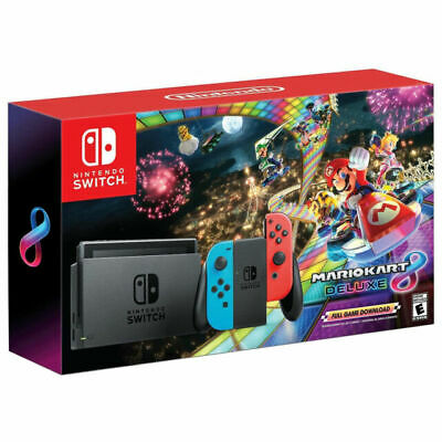 NEWEST EDITION Nintendo Switch Mario Kart 8 Deluxe Bundle IN HAND LAST ONE