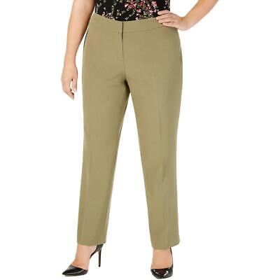 Nine West Womens Green Dressy Office Wear Straight Leg Pants Plus 24W BHFO 1482