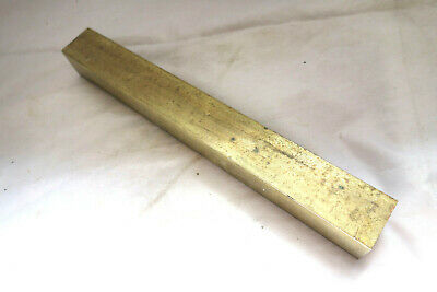 "1"" x 1"" C360 BRASS SQUARE BAR 8 1/2"" long Solid Flat Mill Stock"