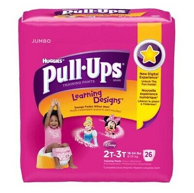 Huggies Pull-Ups Training Pants Disney Designs 2T-3T 18-34 lbs Jumbo 26 Count