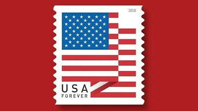 USPS USA Forever Stamps Flag - 100 Stamps Per Roll