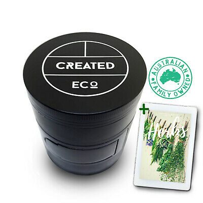 Herb Tobacco Grinder 60mm 4 Piece with Side Door: Mill and Grind Herbs -AU Stock