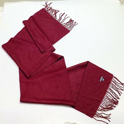 SAKS FIFTH AVENUE RED UNISEX 100% Cashmere Long Scarf GOOD CD 76/14 In