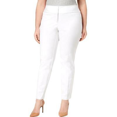 Alfani Womens White Tummy Slimming Straight Leg Pants Plus 16W BHFO 8732