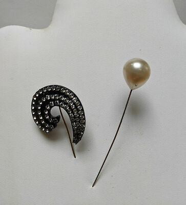 Two Art Deco hat pins