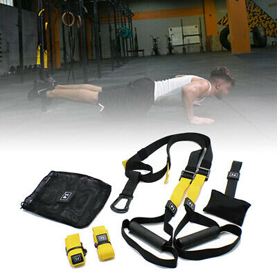 Quality Suspension Trainer Straps Kit Gym Training Mma Workout System New!