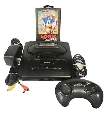 Sega Genesis Version 2 System Console Bundle With CIB Sonic Not for Resale.