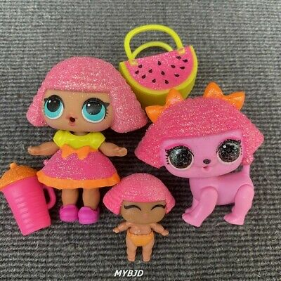 LOL Surprise Doll Glitter Series Queen & LiL Glitter Queen & Pet Glitterati Toy