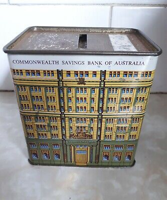 commonwealth bank money box old collectable