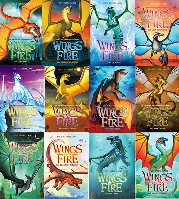 Wings of Fire 1-12 Books Set By Tui T. Sutherland [FDP] [BUPE]