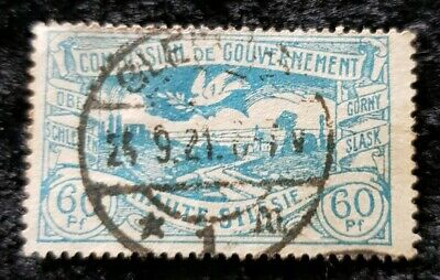 1920 Germany Silesian landscape 60pf stamp used see pics for grading