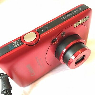 Canon PowerShot Digital Camera Red ELPH SD780 IS 12.1MP Battery Charger Works