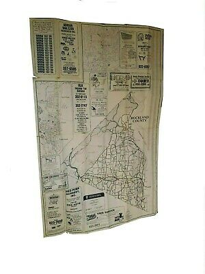 Vintage Rockland County Map New York New City Spring Valley NY WRNW 1970s 1982s