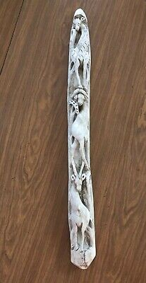 "23.5""  Unique Intricately Carved Wooden Drift Wood Rustic Giraffes"