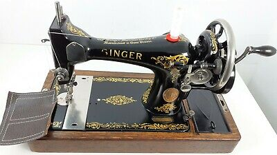 Semi-Industrial Singer 128K Handcrank Sewing Machine,NEWLY SERVICED,sews LEATHER