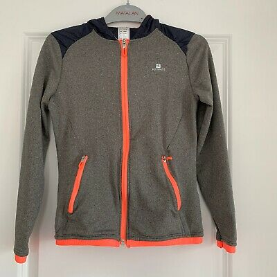 Decathlon Girls Grey Sports Zip Jacket - Age 10 Years - Immaculate Condition