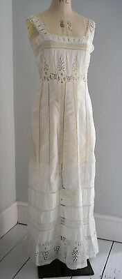 Antique late Edwardian cotton and lace petticoat circa 1910
