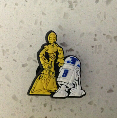 Star Wars C3PO & R2D2 for Crocs Shoes Jibbitz Wristband Charm (Buy 2 get 1 Free)
