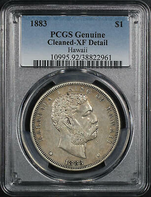 1883 Kingdom of Hawaii Silver Dollar PCGS XF Details Cleaned