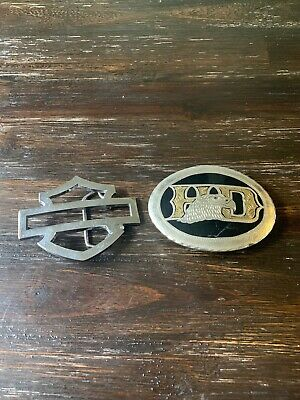Lot Of 2 Harley Davidson Belt Buckle