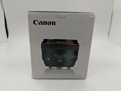 New Canon EF 50mm f/1.2L USM with Lens Case and Lens Hood -AS0032