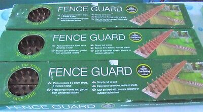 Fence Spikes Wall Security Spikes 16 x 50cm Strips 8 Metres Total Fence Guard