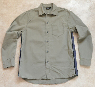 New LMTD Premium Boys Khaki Miltary Green Casual Shirt 14Yrs BNWT