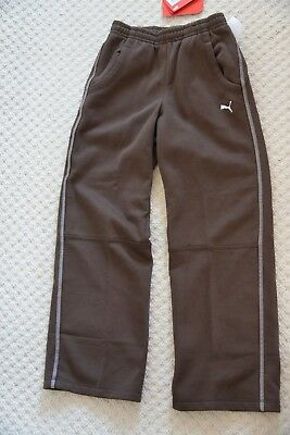 New Puma Shift 552491-01 Unisex Track Bottom Sweat Pants Chocolate Brown 9-10 Yr