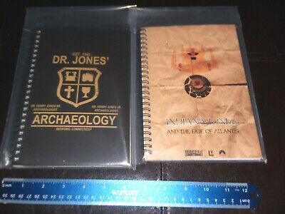 2 Unique and Cool Indiana Jones Rule Lined Notebooks