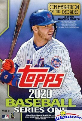 2020 Topps Series 1 Baseball EXCLUSIVE HUGE Factory Sealed 67 Card HANGER Box
