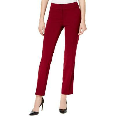 Nine West Womens Red Office Wear Ankle Straight Leg Pants Trousers 16 BHFO 7966