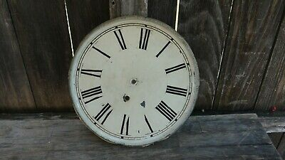 antique Waterbury clock co. time only wall clock dial