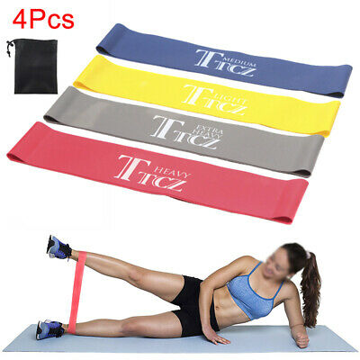 4 Pcs/Set RESISTANCE BANDS LOOP SINGLES - Home Workout Exercise Yoga