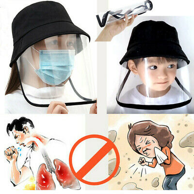 Adult Kid Anti-fog Flu Protective Cap Protection Fisherman Hat Face Shield Cover