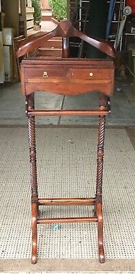 Vintage antique style barley twist coat stand solid condition
